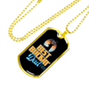 Image of Best Buckin' Dad Ever- Black- Luxury Dog Tag