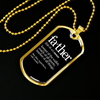 Image of Father Noun- Luxury Dog Tag