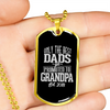 Image of Only the Best Dads get Promoted to Grandpa- Luxury Dog Tag