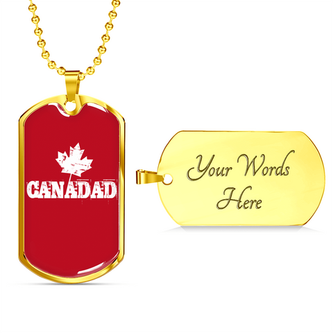 Canadad- Luxury Dog Tag