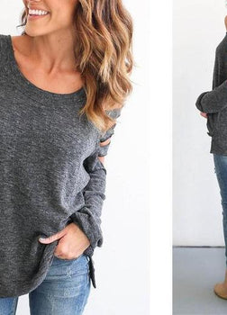 Emily - Off Shoulder Bandage Top - Gray