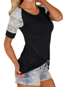 Charlotte Crochet Top - Black