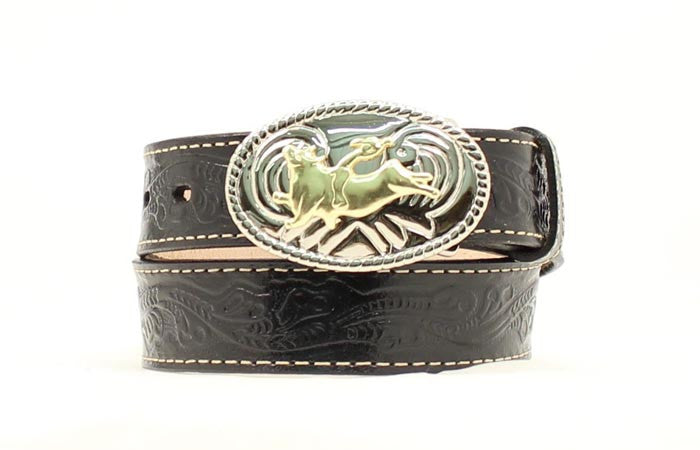 Nacona Boys Black Western Belt