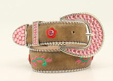 "Nacona Girls ""Savvy"" Floral Embroidered Western Belt"