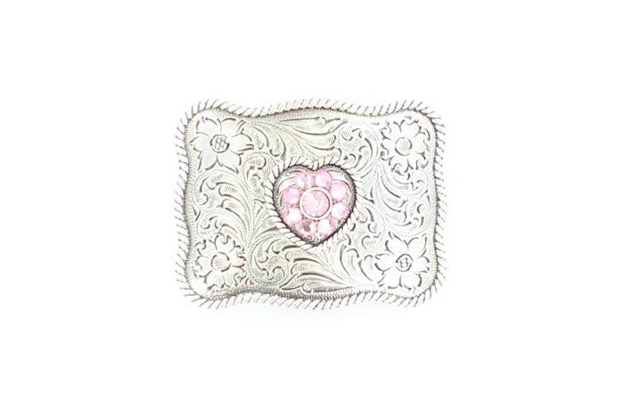 Rhinestone Heart Buckle