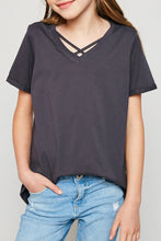 Charcoal V-Neck Tee