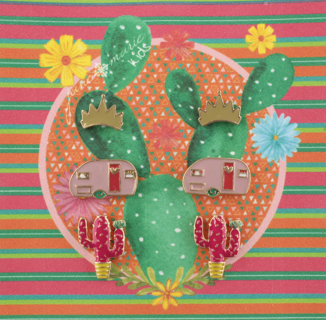 3 Piece Earring Set - Cactus