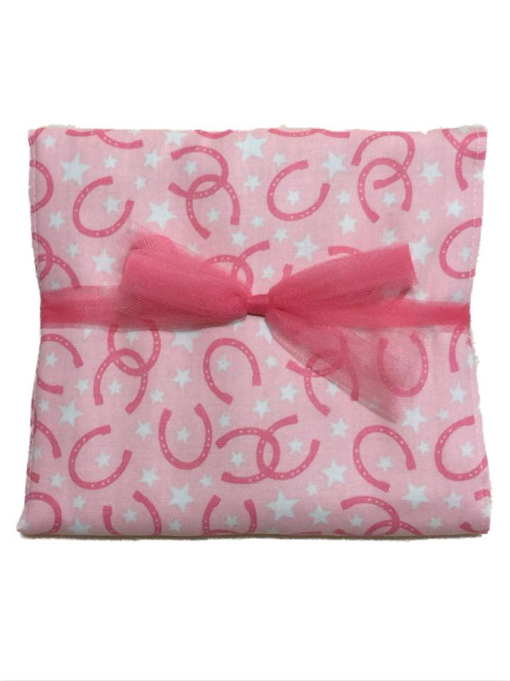 Lucky Pink Burp Cloth