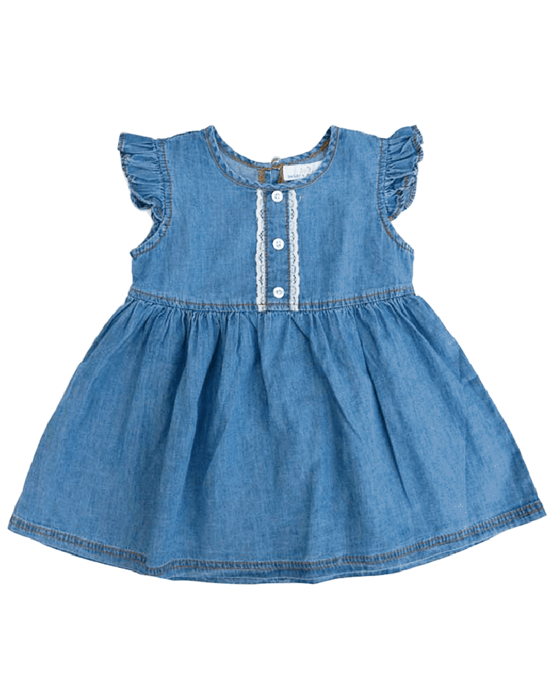 Maybelle Denim Pleated Dress