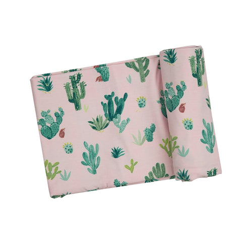 Pink Cactus Swaddle Blanket