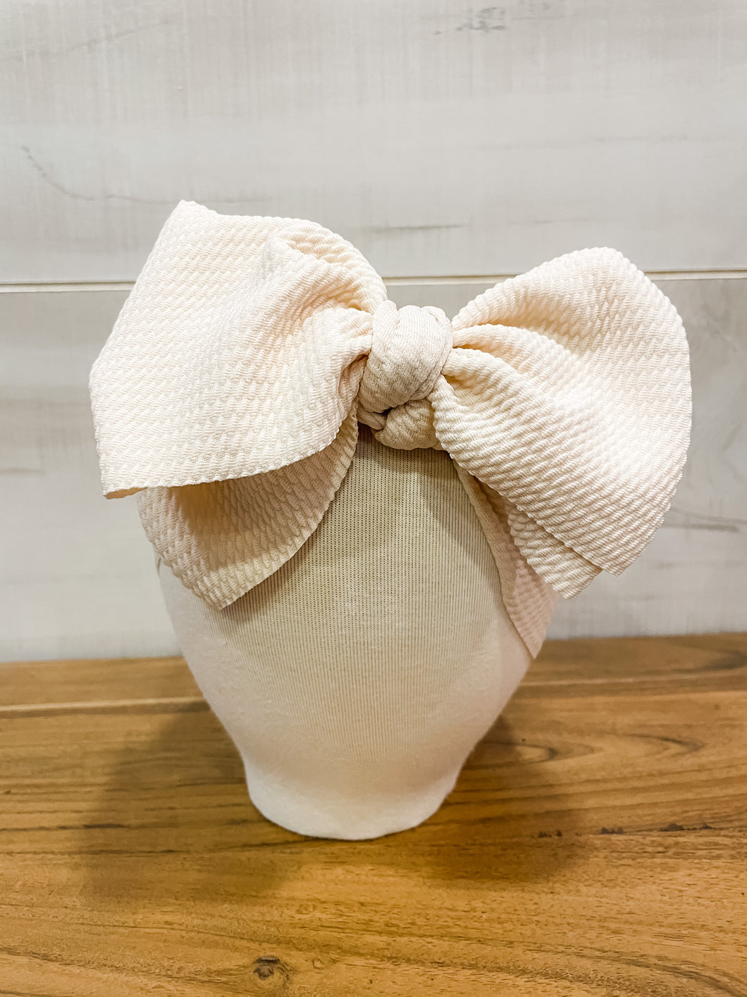 Simply Beige Floppy Bow
