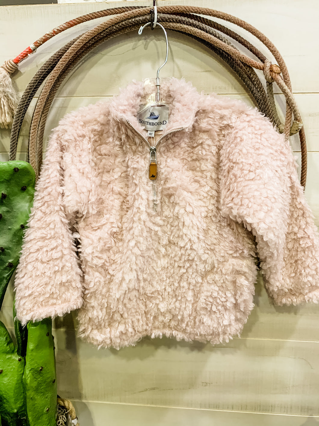Dusty Rose Sherpa Pull Over
