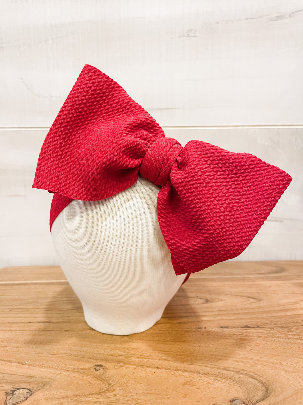 Rowdy Red Floppy Bow