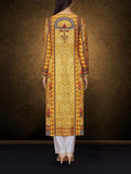 Yellow Color Designer Kurti With Printed Work Of Cotton Poly Material For Women