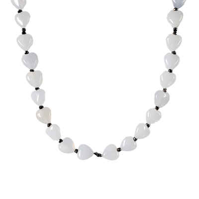 Chalcedony Hearts Necklace