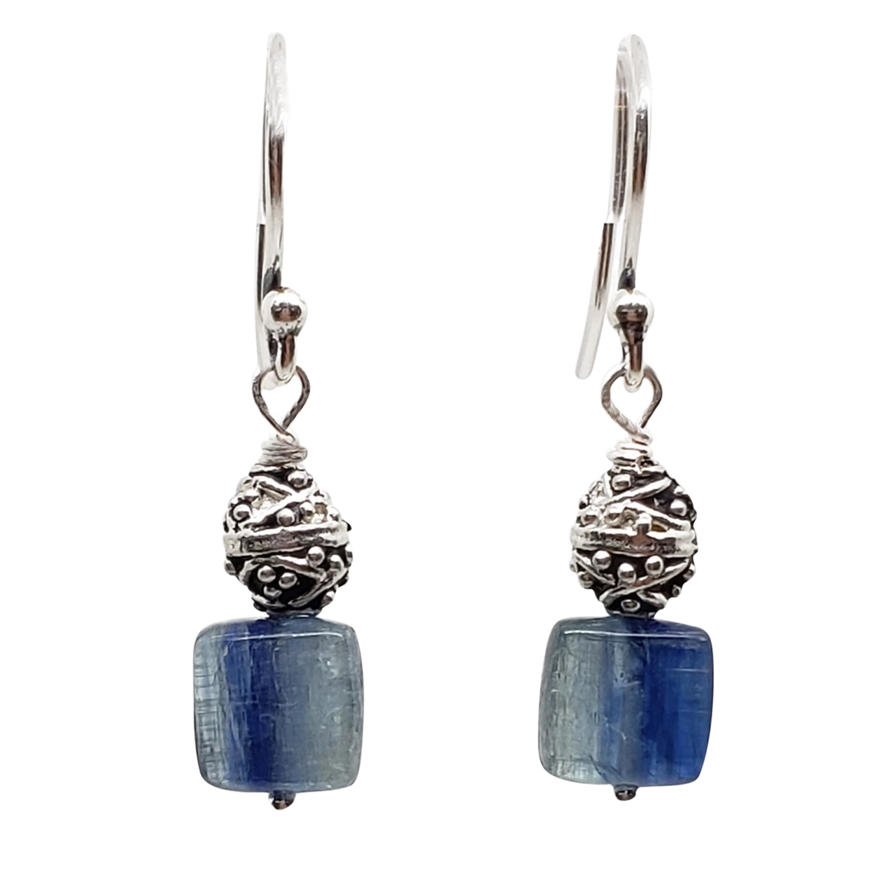 Kyanite & Pewter Single Stone Earrings (S)