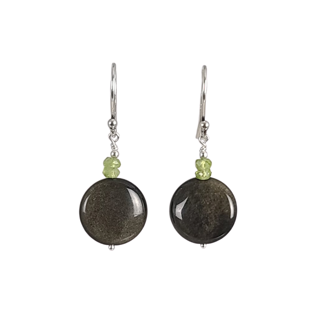 Obsidian Drop Earrings