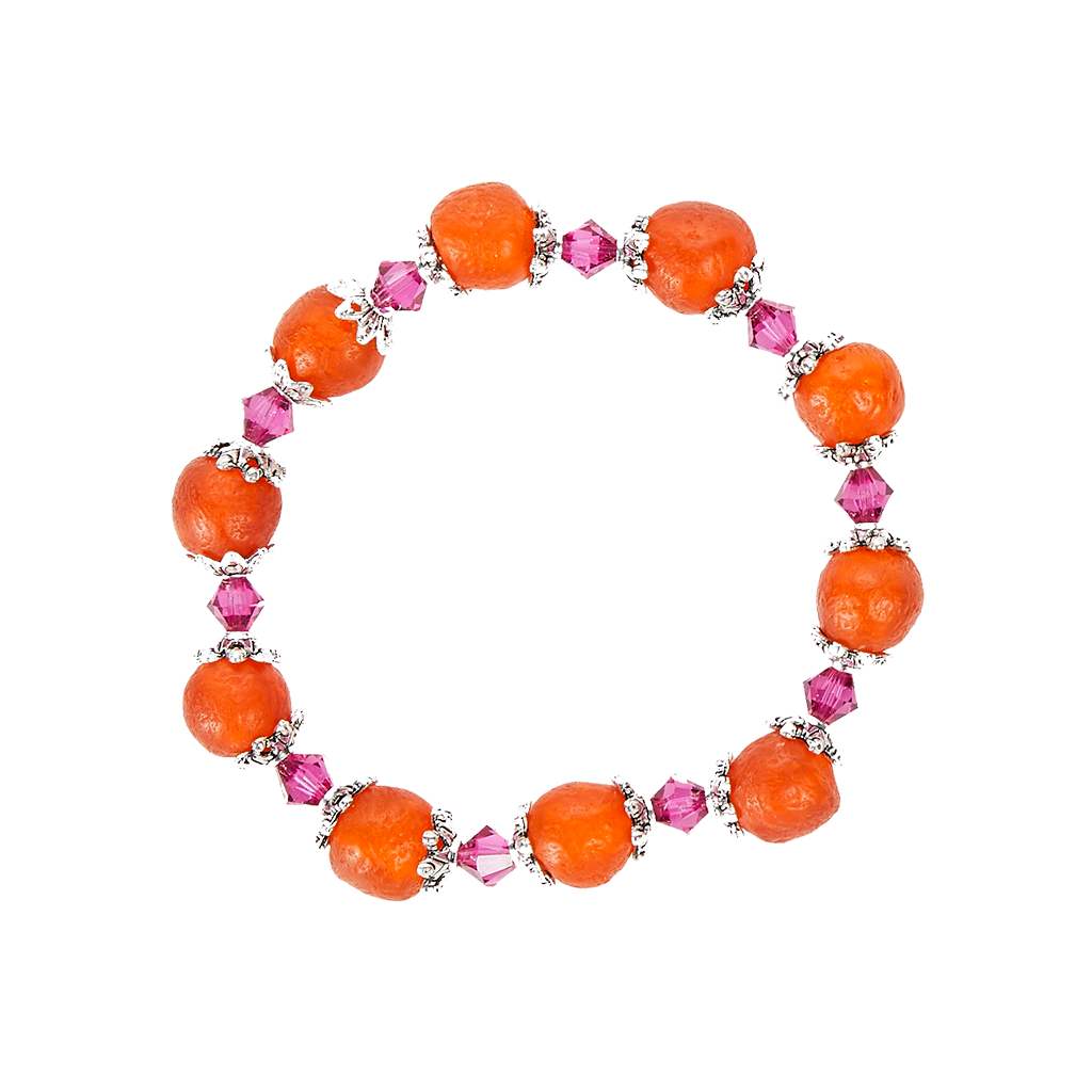 Ghana Glass Bracelet - Orange