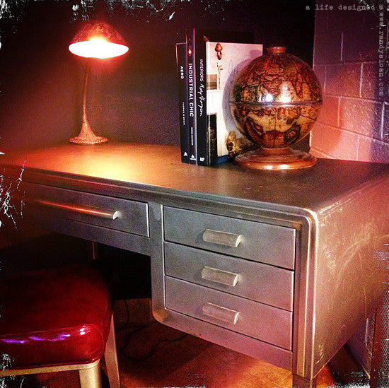 Collectible Norman Bel Geddes desk sold @ A Life Designed