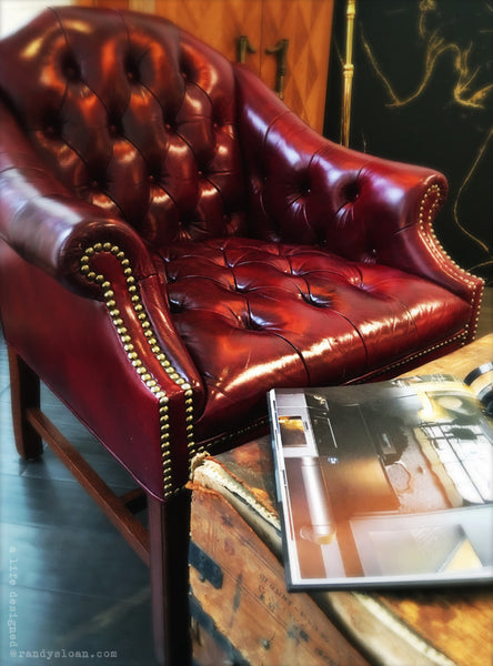 Red leather vintage chair