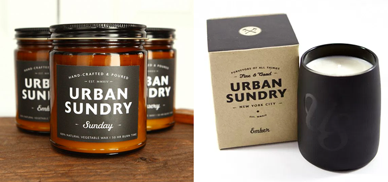 Urban Sundry Candles available @ A Life Designed