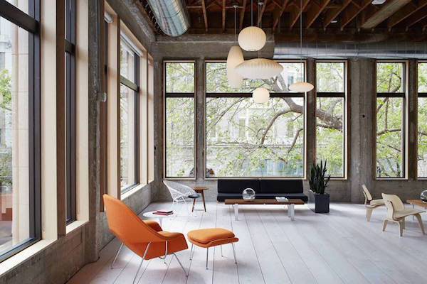 VCSO office - mixing industrial with mid-century modern decor