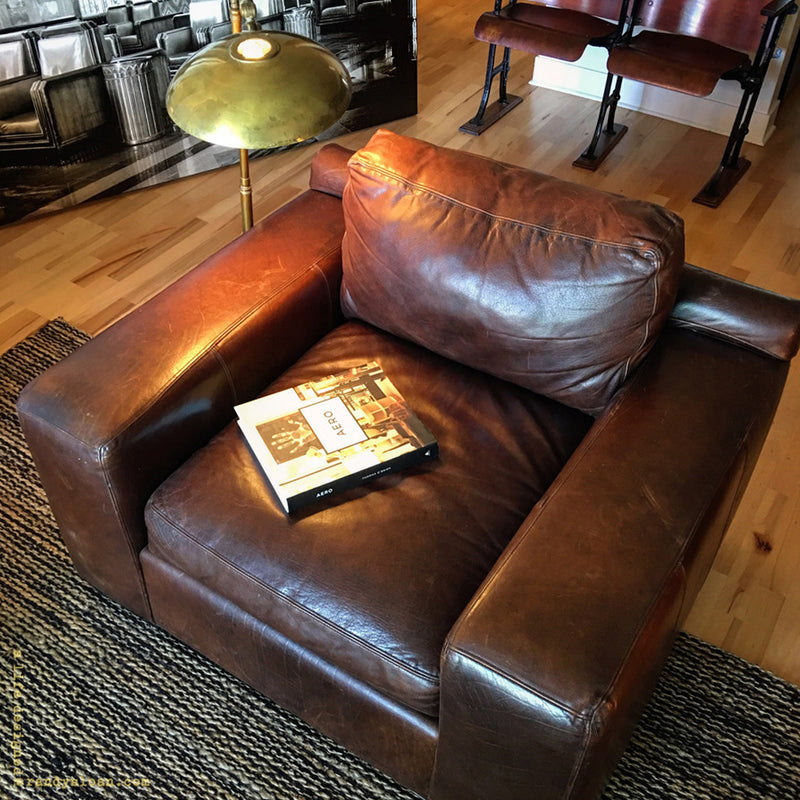 Arhaus leather club chair sold @ A Life Designed