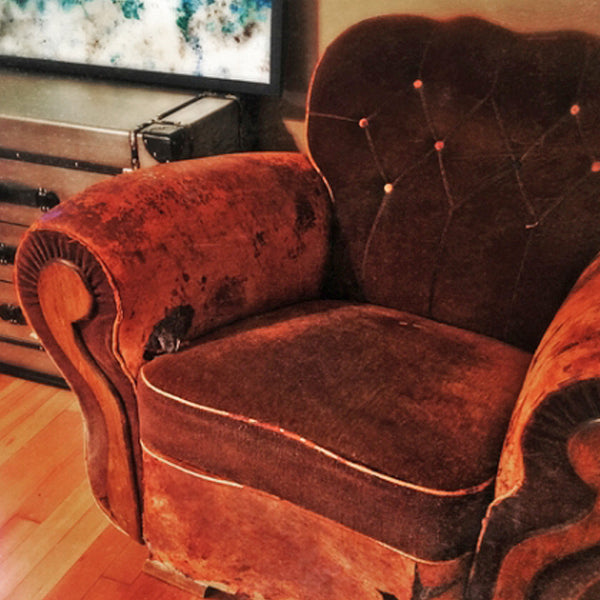 Vintage Leather Deco Club Chair