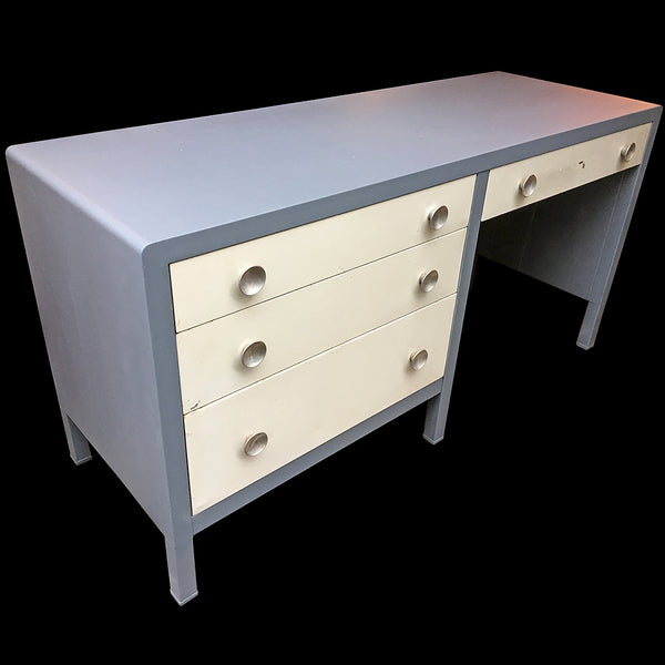 Norman Bel Geddes steel desk available @ A Life Designed