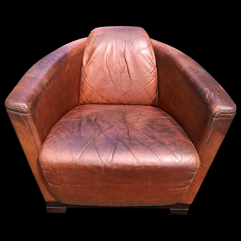 Italian Leather Club Chair