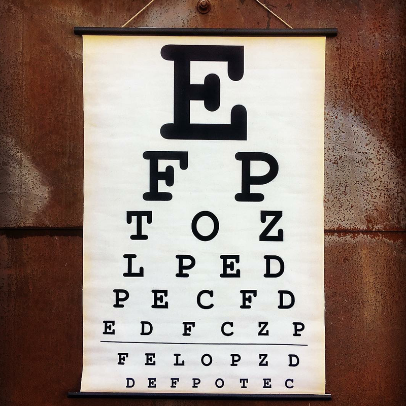 vintage-look eye exam wall chart @ A Life Designed