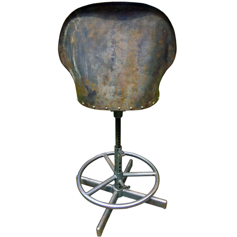Steampunk-Industrial Stool