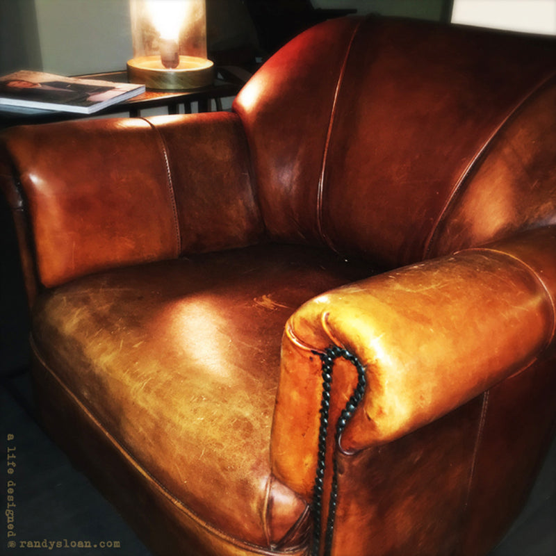 European Leather Club Chair