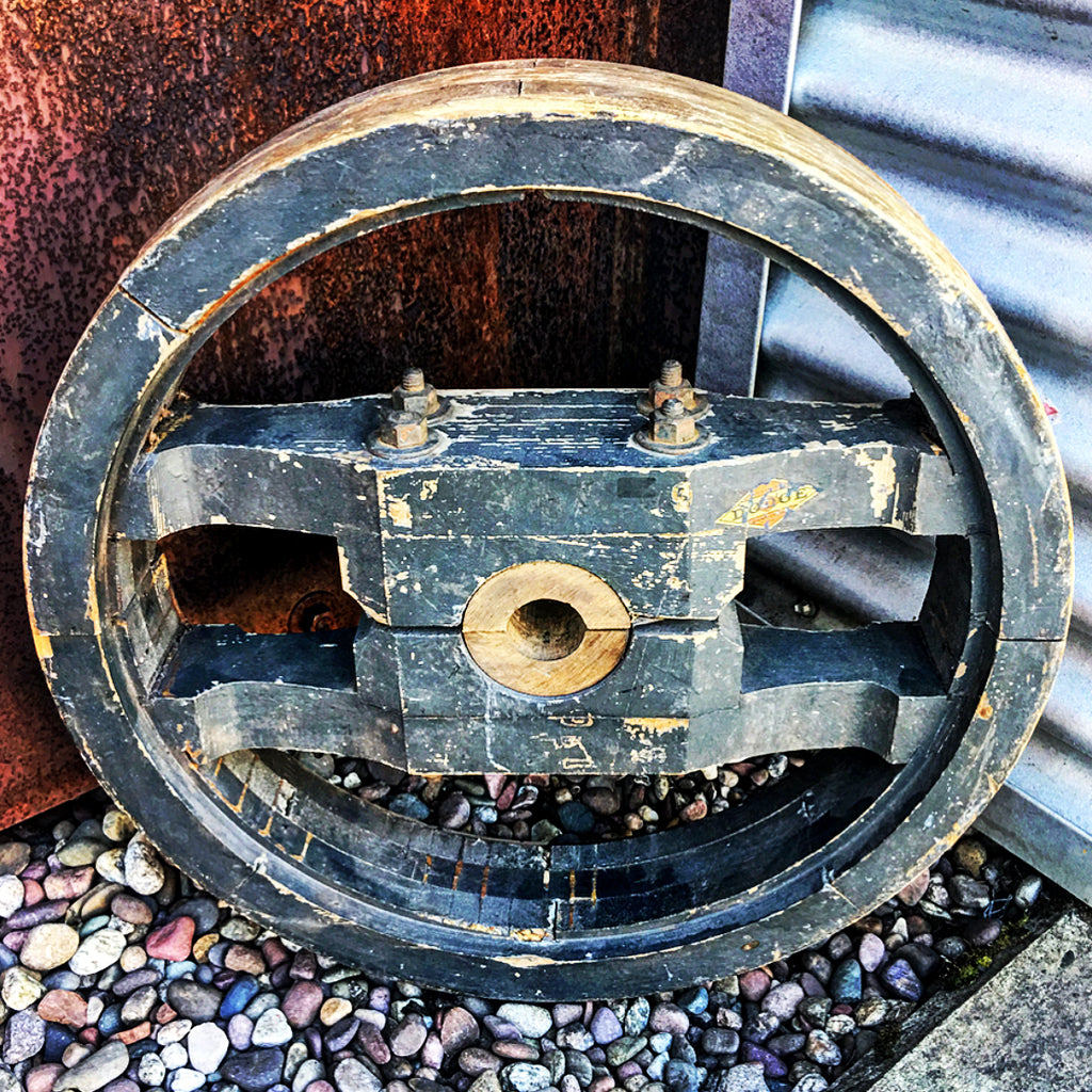 vintage machine pulley available @ A Life Designed
