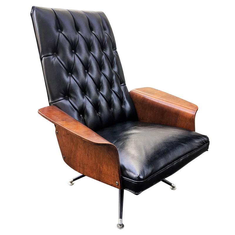 Arhaus Leather Club Chair