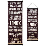 New York City Vintage Style Subway Roll Sign