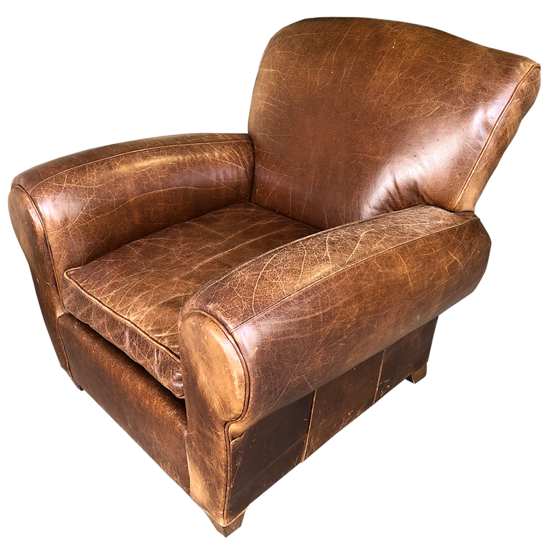 pottery barn leather club chair @ randysloan.com