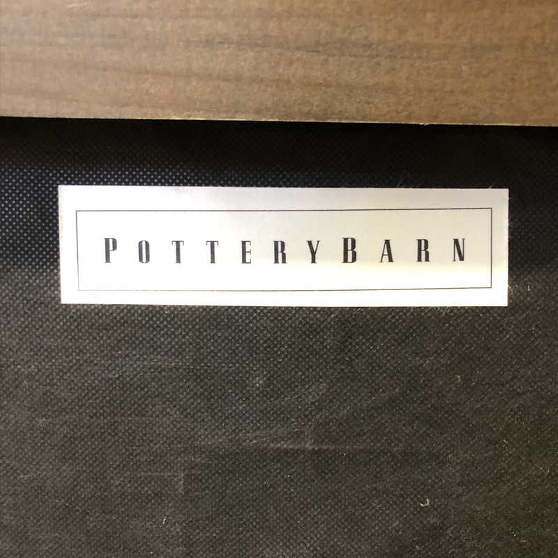 Pottery Barn Sullivan Leather Ottoman