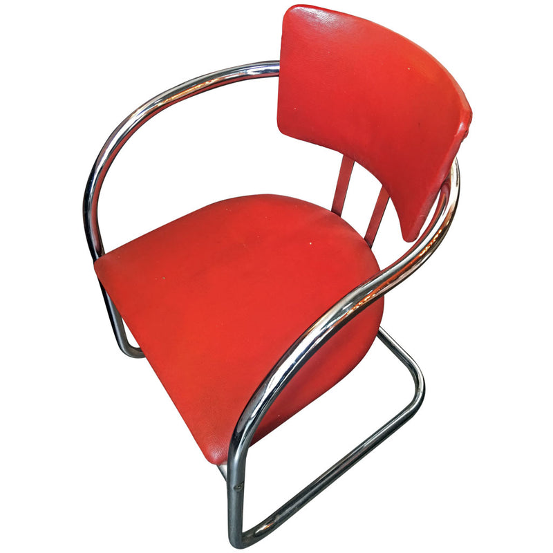 chromcraft art deco chair