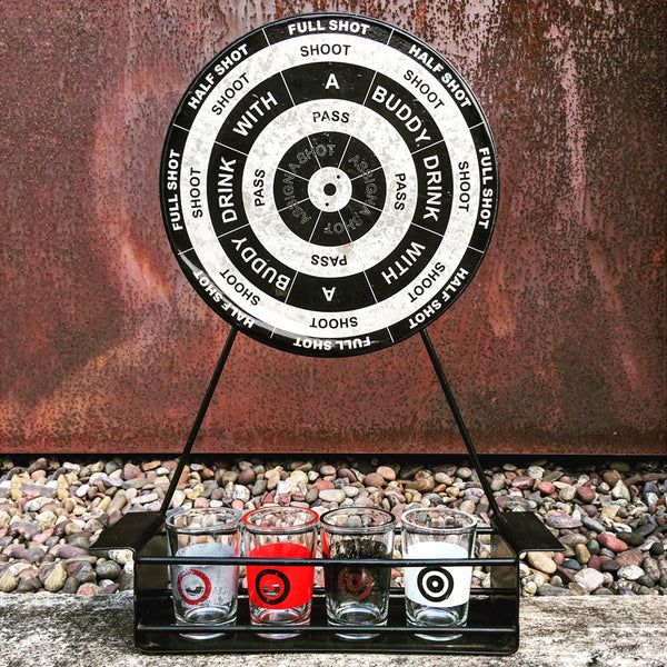 Vintage 'bullseye' drinking game available @ A Life Designed