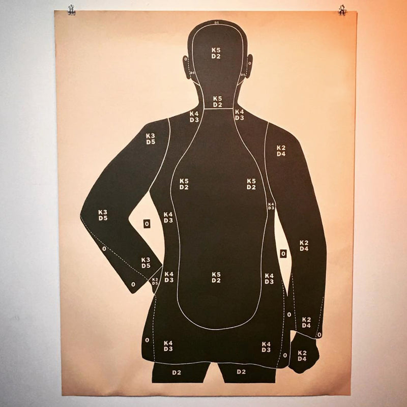 vintage FBI shooting range target/wall decor @ A Life Designed