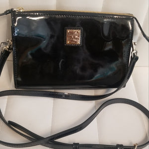 DOONEY AND BOURKE Black Patent Leather Crossbody