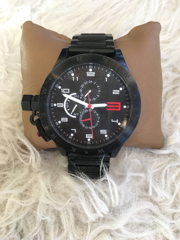 KRUCIBLE KR3W Multi-function All Black Steel Watch