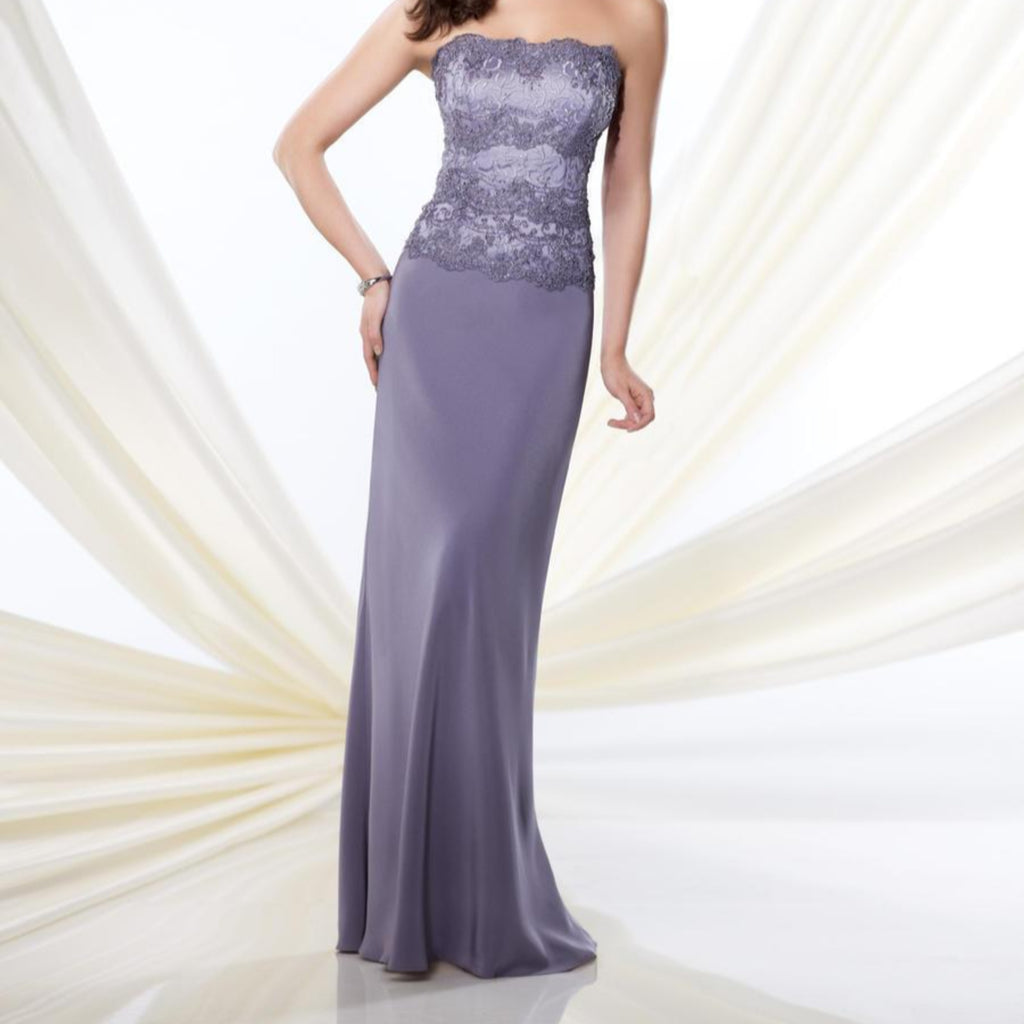 MONTAGE BY MON CHERI Long Periwinkle Gown Size 12 NWT