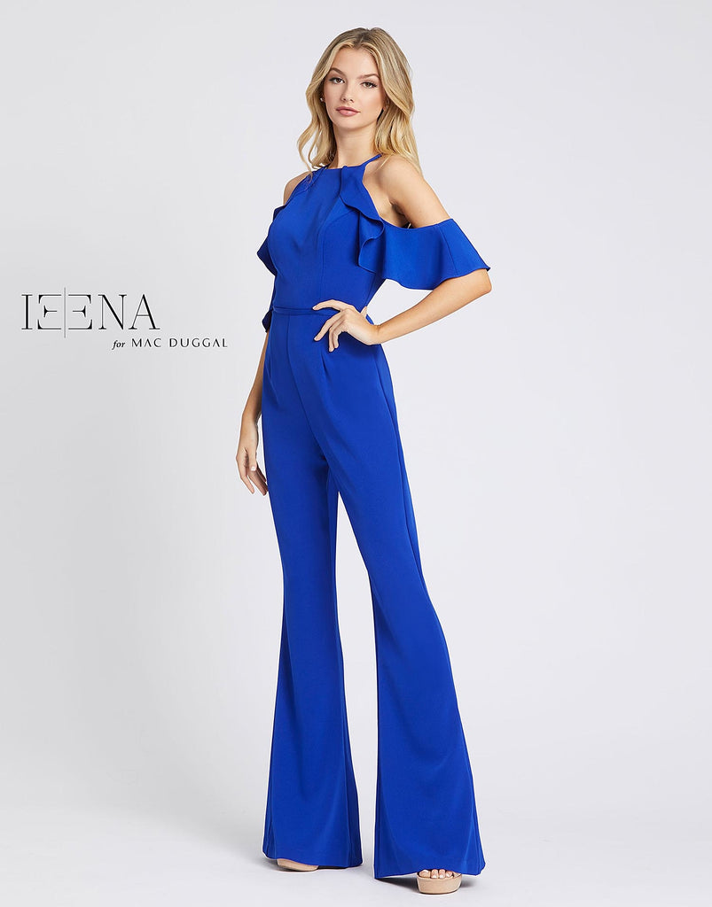 IEENA For MAC DUGGAL Royal Blue Special Occasion Jumpsuit Size 6 NWT