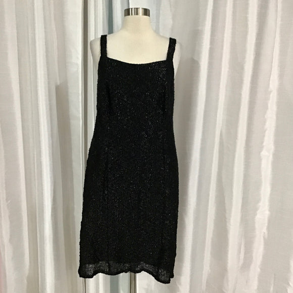 BOUTIQUE Short Black Gown Size 14