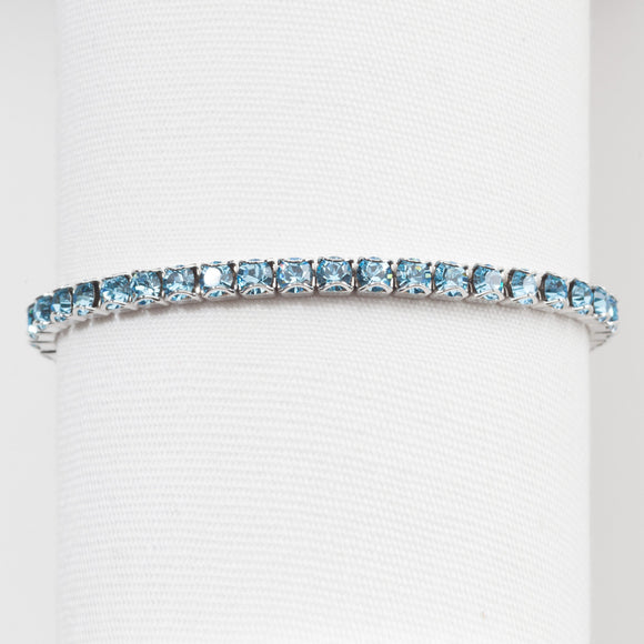 TOUCHSTONE CRYSTAL By SWAROVSKI March Birthstone Bracelet