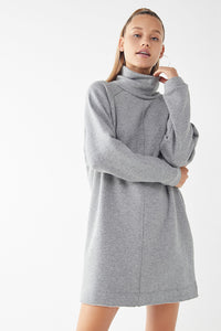 URBAN OUTFITTERS Grey Bunny Tutrleneck Sweatshirt Dress Size XS NWT