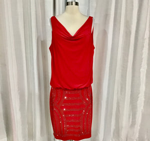CACHE Short Red Gown Size L