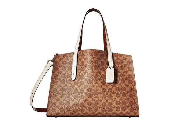 Coach Charly Carryall Signature Canvas NWT